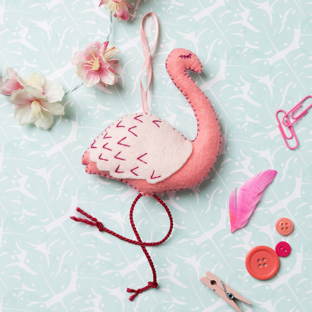 Corinne Lapierre Flamingo Felt Craft Kit