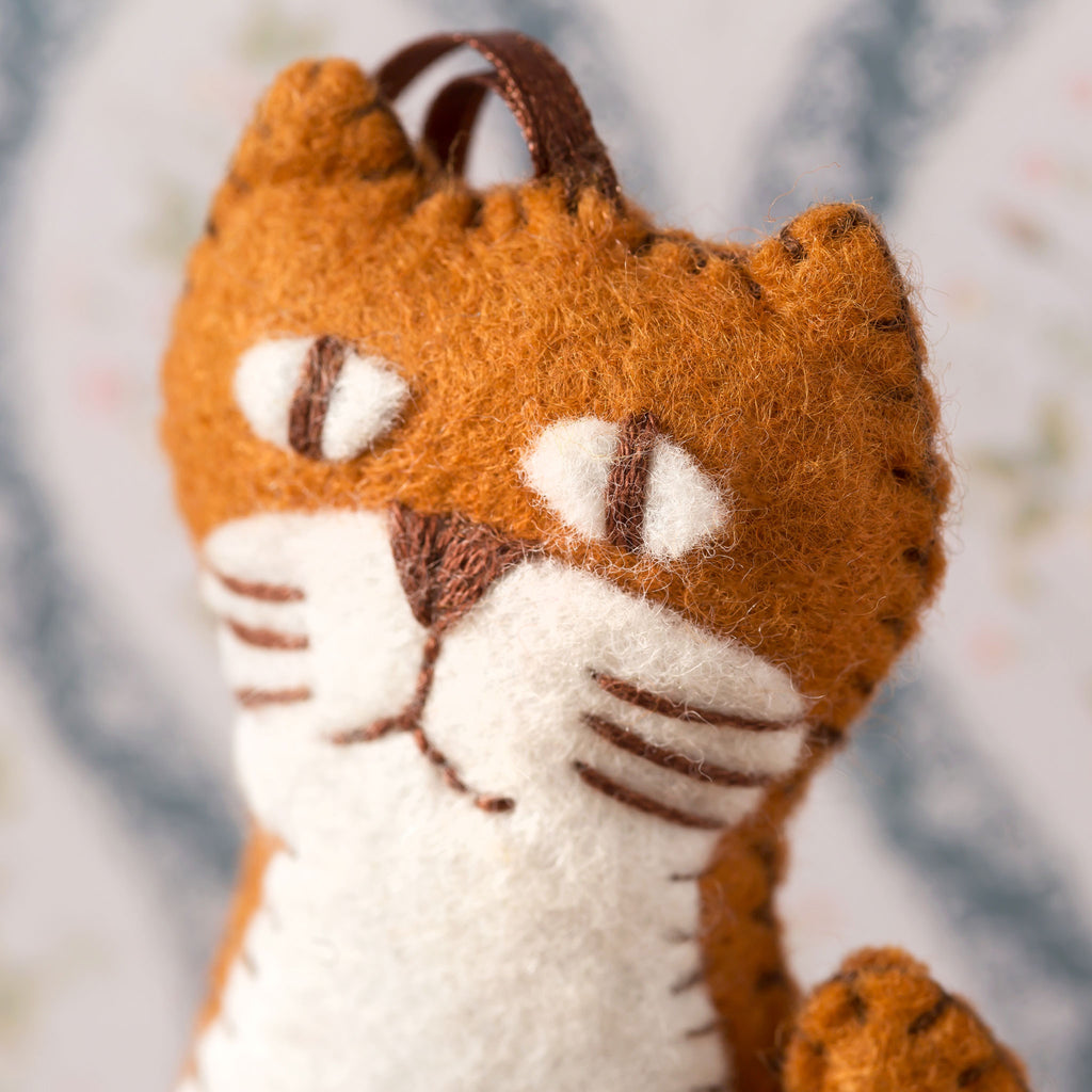 Corinne Lapierre Ginger Cat Felt Craft Kit Face Detail