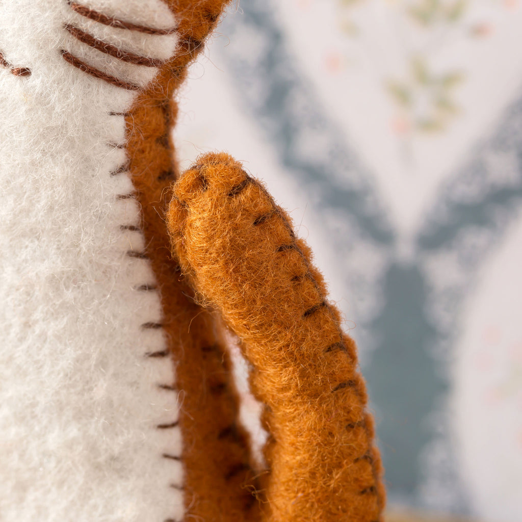 Corinne Lapierre Ginger Cat Felt Craft Kit Tail Detail