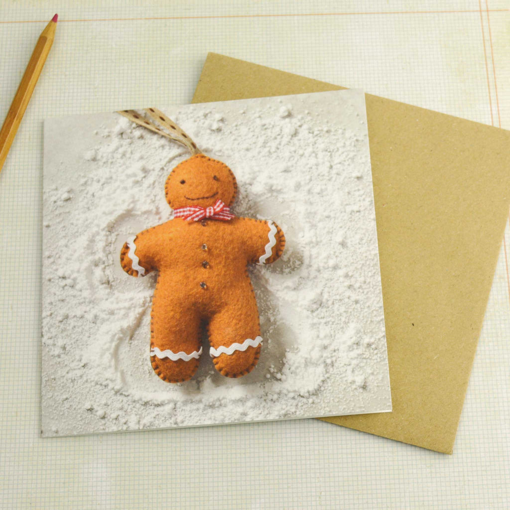 Corinne Lapierre Gingerbread Man Christmas Card with envelope