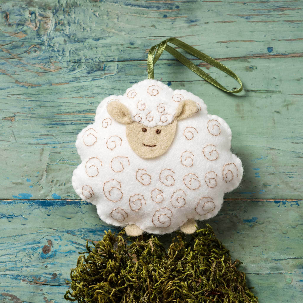Corinne Lapierre felt lamb mini craft kit