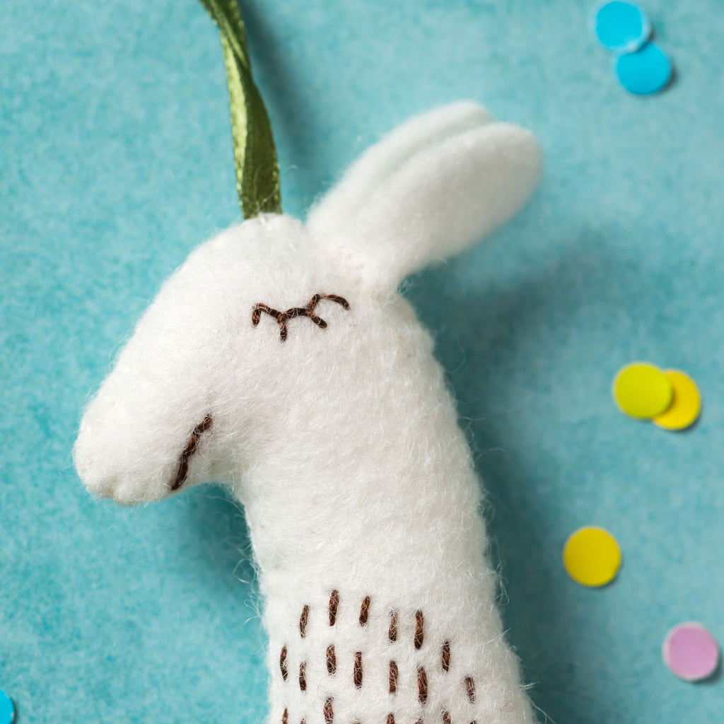 Corinne Lapierre Llama Felt Craft Kit Head Detail