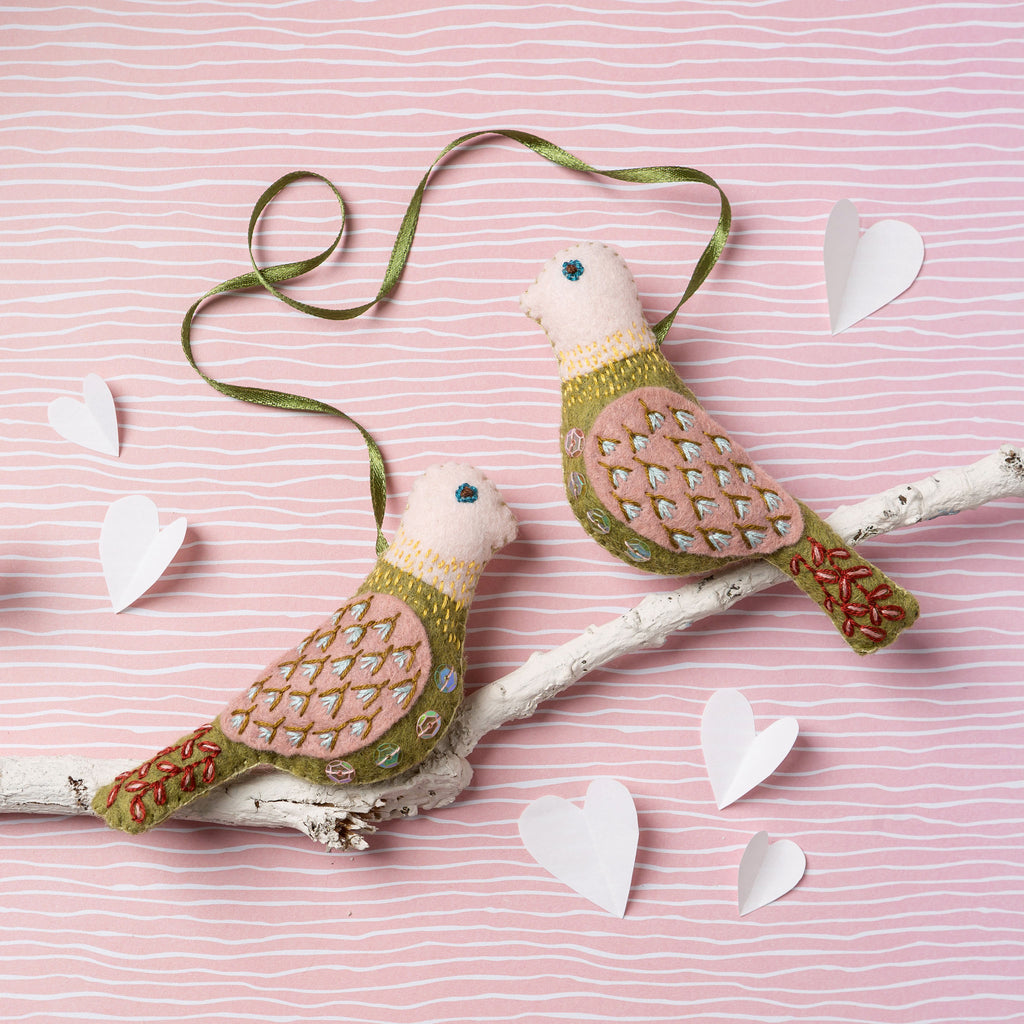 Corinne Lapierre Love Birds Felt Craft Kit