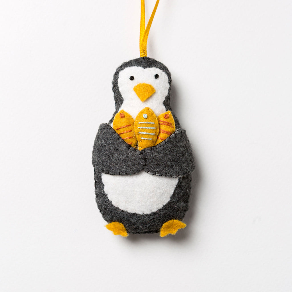 Corinne Lapierre Penguin with Fish Felt Craft Kit