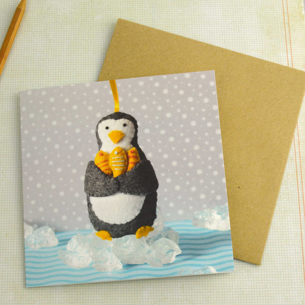 Corinne Lapierre Penguin Christmas Card with envelope