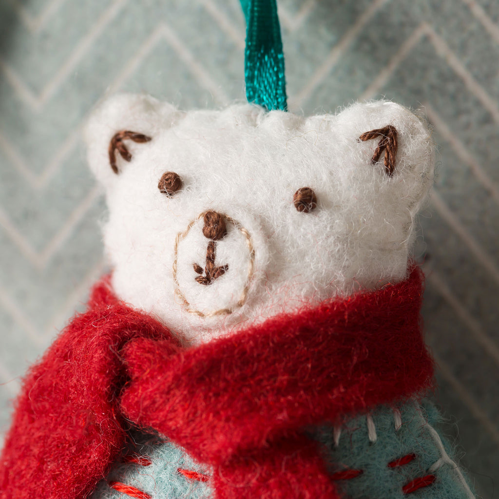 Corinne Lapierre Polar Bear Felt Craft Kit Face Detail