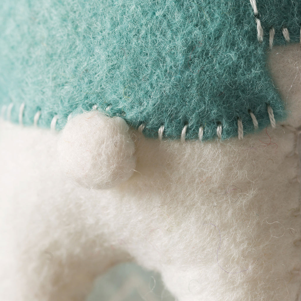 Corinne Lapierre Polar Bear Felt Craft Kit Tail Detail
