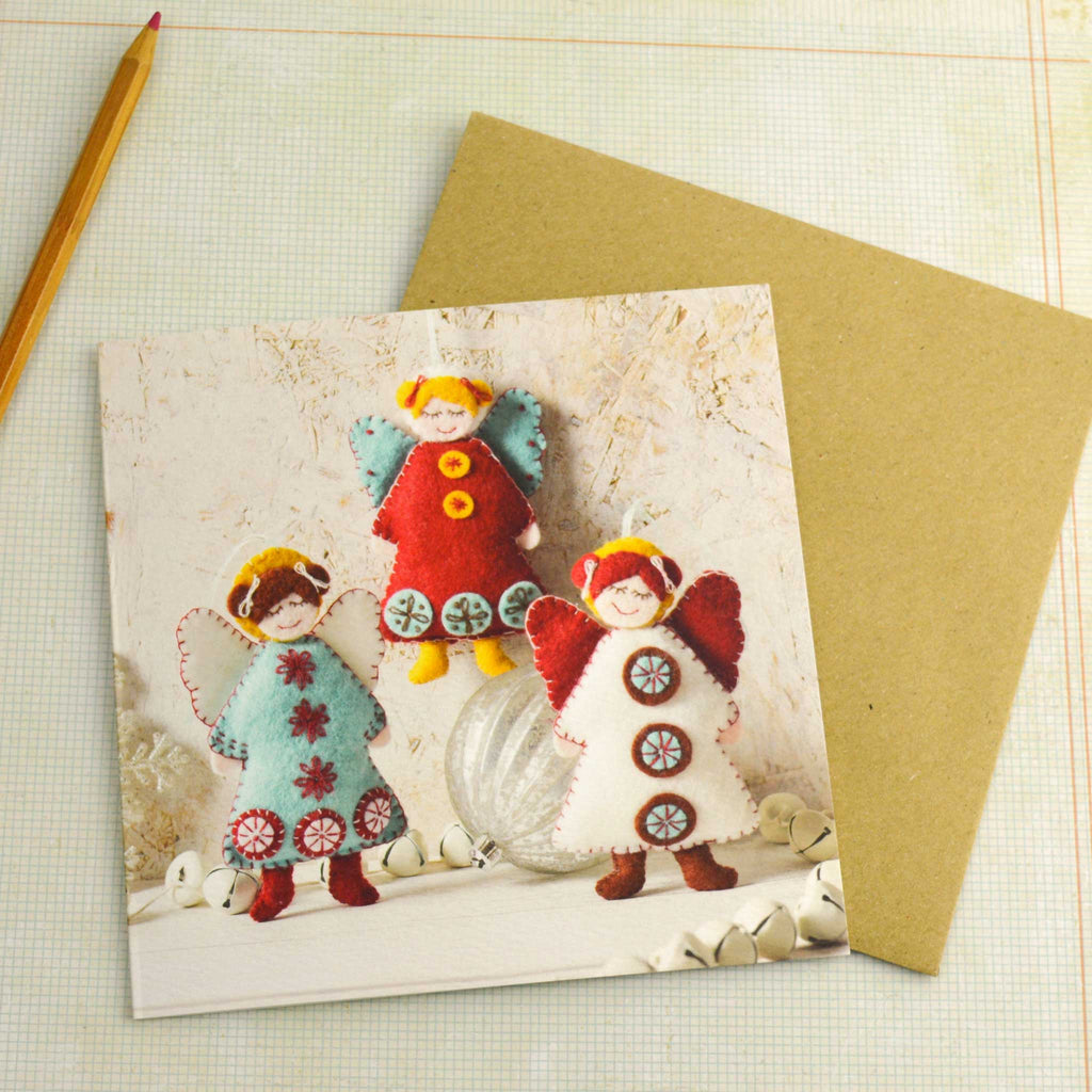 Corinne Lapierre Scandinavian Angels Christmas Card with Envelope