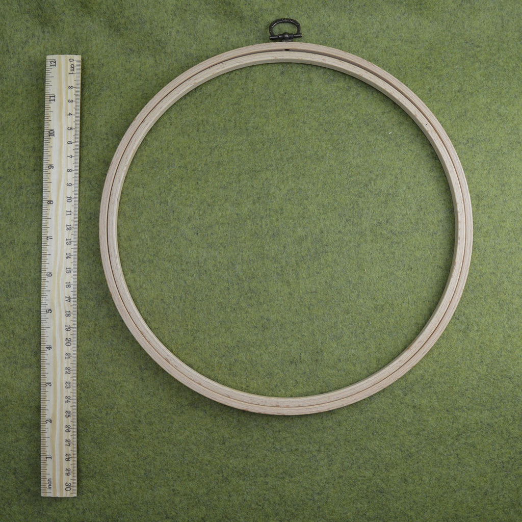25cm wooden frame embroidery hoop