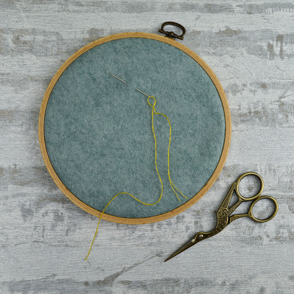 Corinne Lapierre Wooden Frame Embroidery Hoop with felt