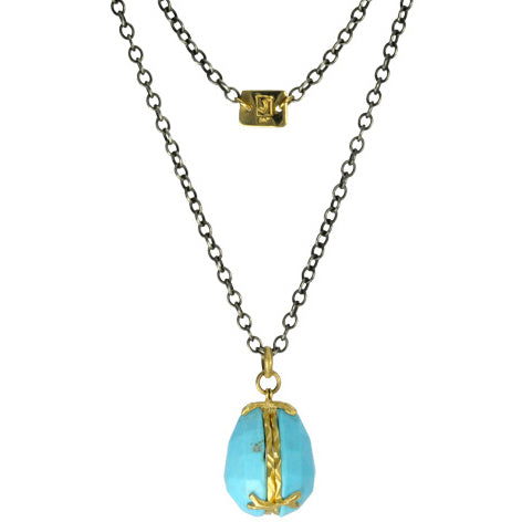 "Sleeping Beauty Turquoise ""Locket"" Necklace"