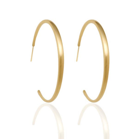 Large Gold Tapered Hoop Earrings