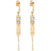 "Moonstone and Diamond ""Fringe"" Earrings"