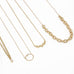 "Zoe Chicco Gold Oval Link ""Station"" Necklace"