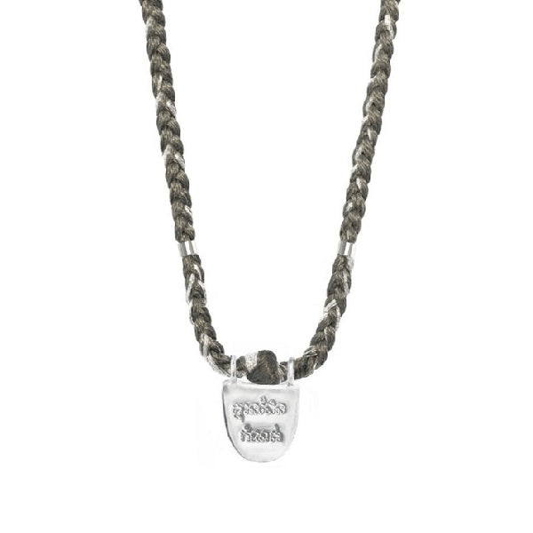"The Brave Collection Sterling Silver ""Without Limits"" Necklace on Pepper Cotton Cord"