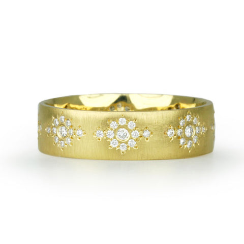 "Adel Chefridi Gold and Diamond ""Shimmer"" Band"