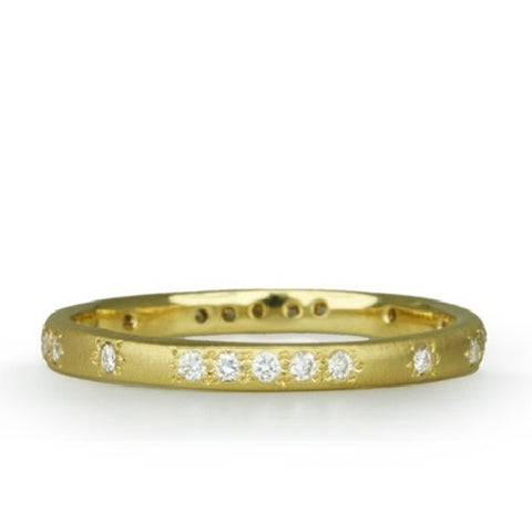 Rounded Thin Pave Diamond Band