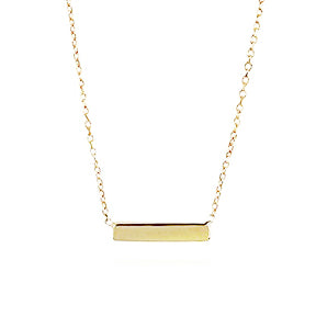 Adina Reyter Tiny Gold Bar Necklace