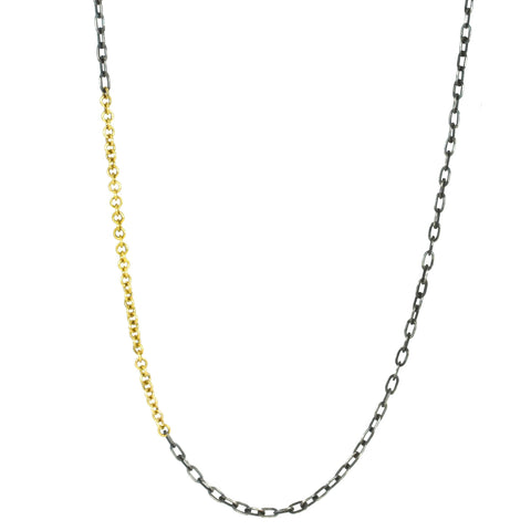 "Mixed Metal 24"" Chain with Toggle Clasp"