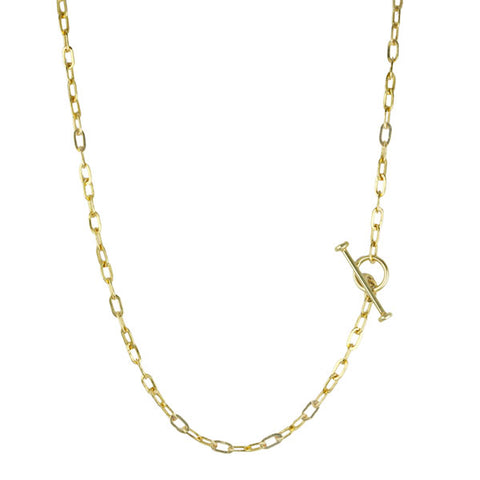 Gold Baby Oval Link Chain in 16""