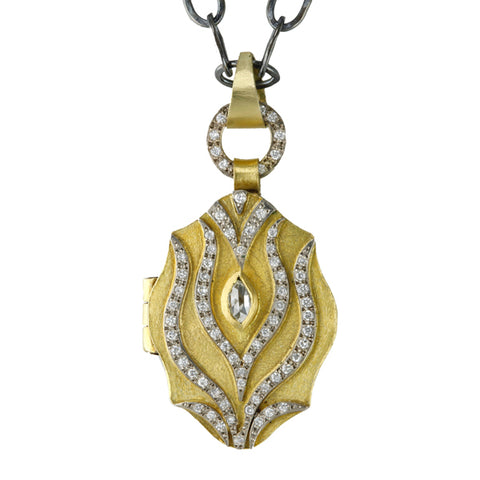 "22K Gold and Diamond ""Tulip"" Locket"