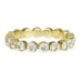 "Bezel-Set Diamond ""Raindrop"" Eternity Ring"