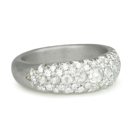 "Platinum and Diamond ""Laksmi"" Ring"