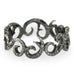 "Annie Fensterstock Blackened White Gold ""Swirl"" Ring with Black Diamonds"