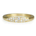 Tapered Gold Ring with Diamond Center Section