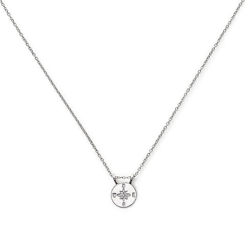"The Brave Collection Sterling Silver ""Compass"" Necklace"