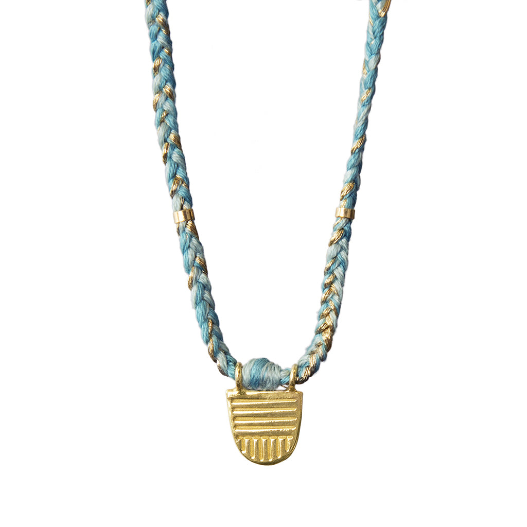 Turquoise Mix Buddhist Flag Necklace