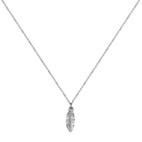 "The Brave Collection Sterling Silver ""Banana Leaf"" Necklace"