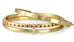 Caroline Ellen Gold Thin Single Row Pave Diamond Hinged Bangle