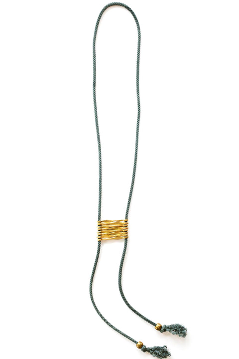 "Saint Clair ""Cash"" Bolo Style Necklace in Indigo"