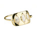 "Celine Daoust Gold High Polish ""Plate"" Ring with Three Marquise Moonstones"