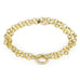 20K Gold Double Wrap Bracelet with One Pave Diamond Centerpiece