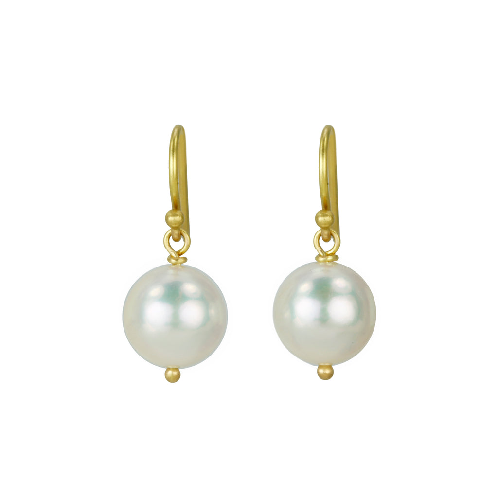 Caroline Ellen Cultured Cream-Colored Pearl Earrings