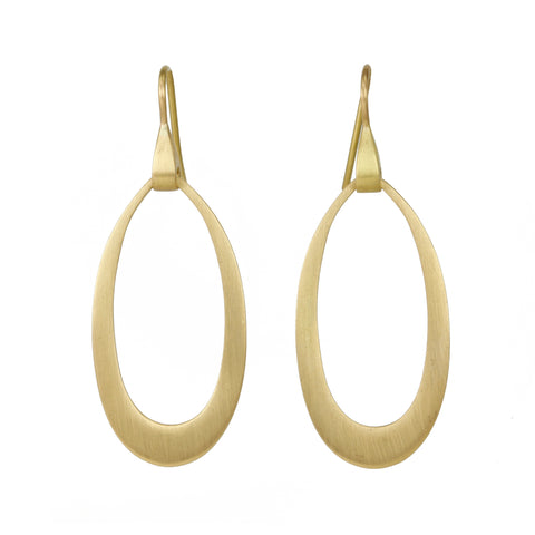 "Gold Oblong ""Doorknocker"" Earrings"