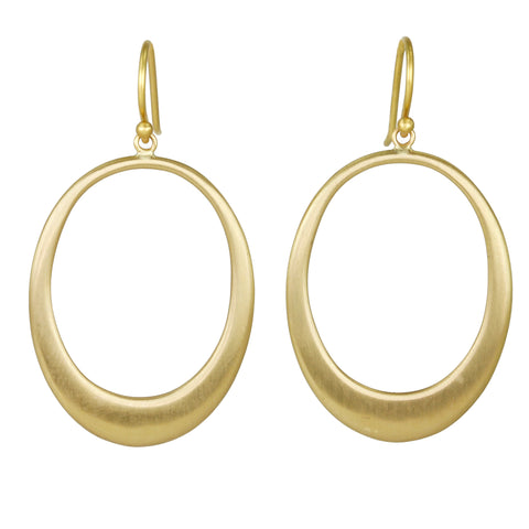 "Front-Facing Oval ""Doorknocker"" Earrings"