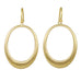 "Gold Oval ""Doorknocker"" Hoop Earrings"