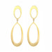 "Caroline Ellen Gold Oval ""Double Doorknocker"" Earrings"