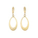 "Caroline Ellen 20K Gold Mini ""Doorknocker"" Earrings with Curved Diamond Posts"