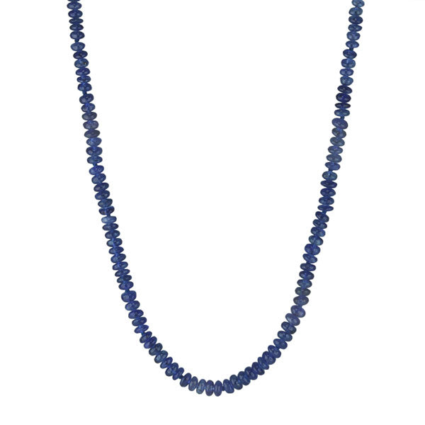 Cabochon Blue Sapphire Beaded Necklace
