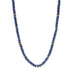 "Cabochon Blue Sapphire Beaded Necklace with 22 and 20K Gold ""Spacer"" Rings"