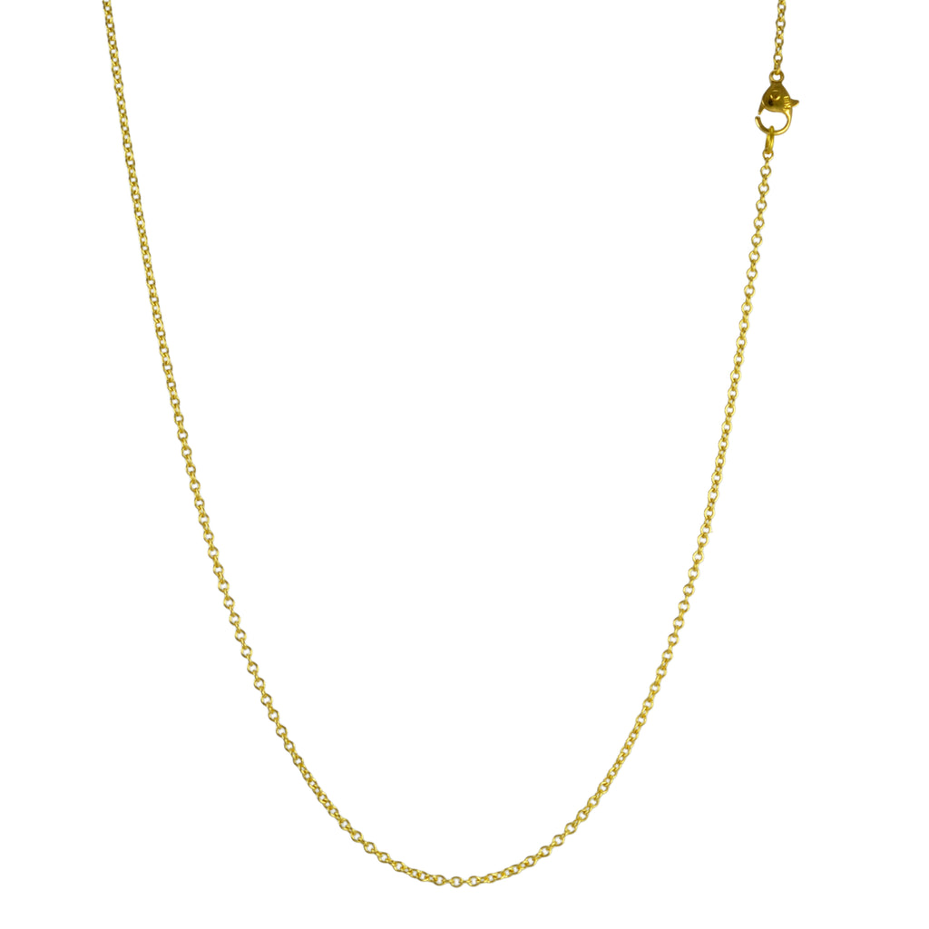 Gold Thin Cable Chain in 16""