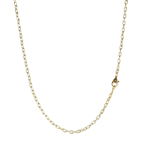 Gold Drawn Link Chain in 18""