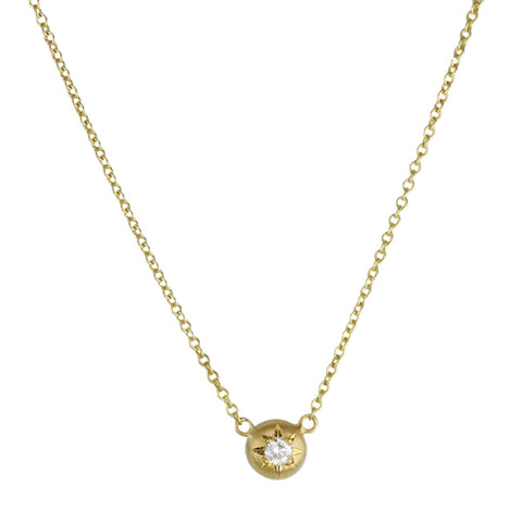 "Caroline Ellen Gold and Diamond ""Mini Granule"" Necklace"