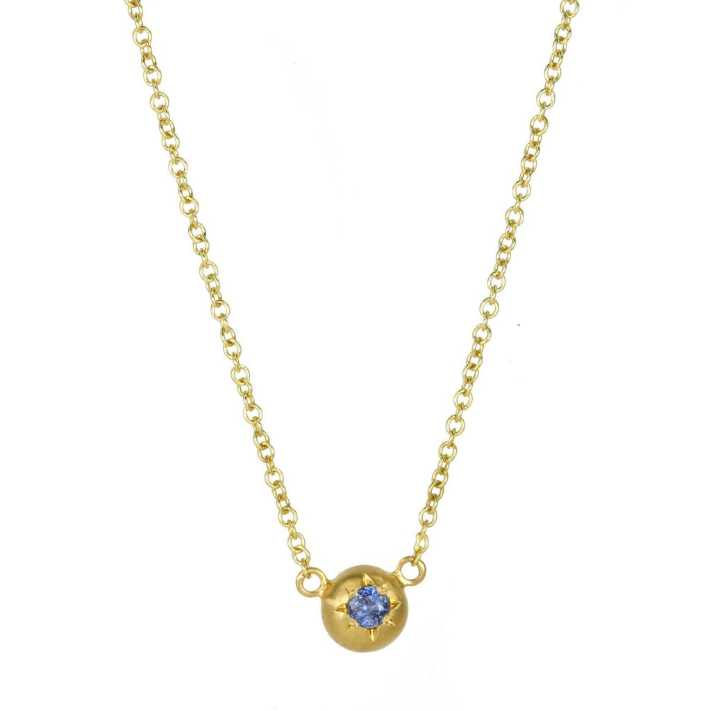 Caroline Ellen Gold and Sapphire Mini Star Set Necklace