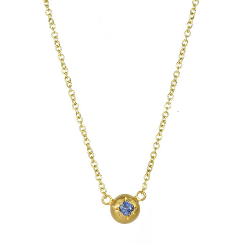 Gold and Sapphire Mini Star Set Necklace