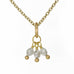 Caroline Ellen 20K Gold Tiny Grey Diamond Cluster Pendant (0.80 tcw)